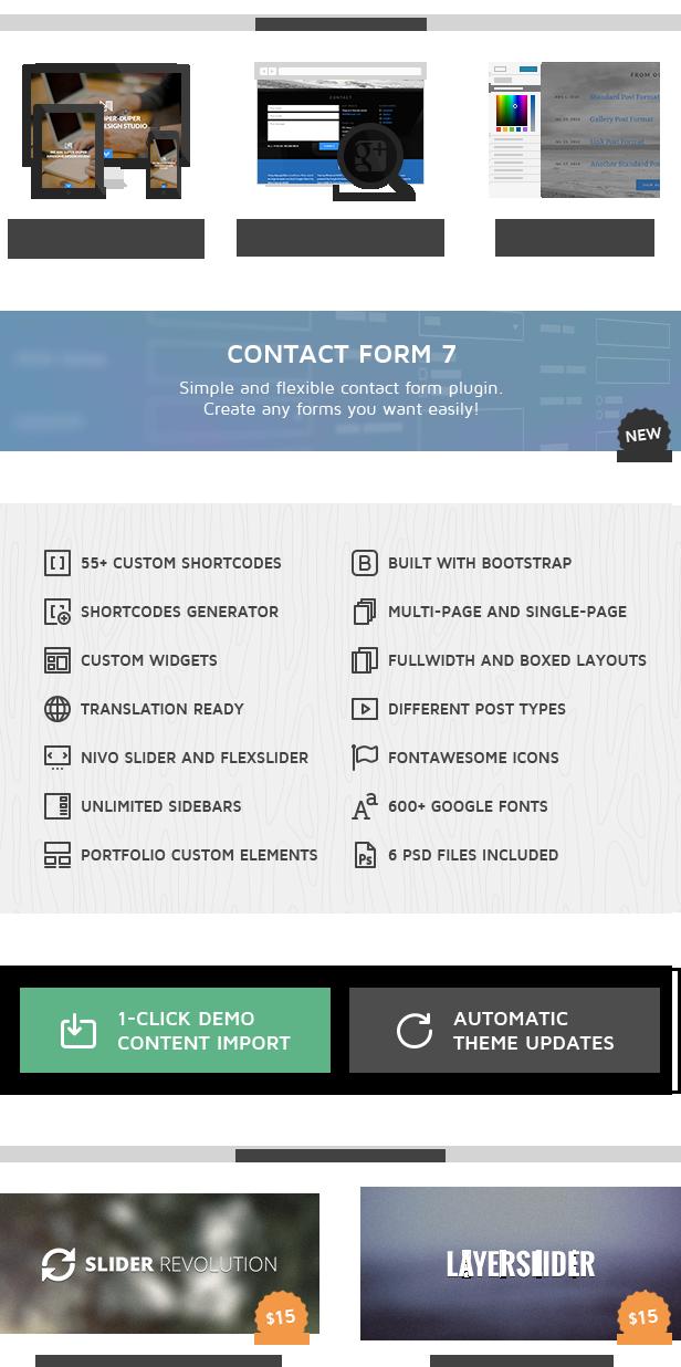 nonus features - Nonus Parallax Wordpress Portfolio