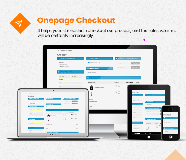 onepage checkout - eMarket - Multi-purpose MarketPlace OpenCart 3 Theme (30+ Homepages & Mobile Layouts Included)