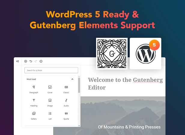 p27 Gutenberg - PenNews - Multi-Purpose AMP WordPress Theme