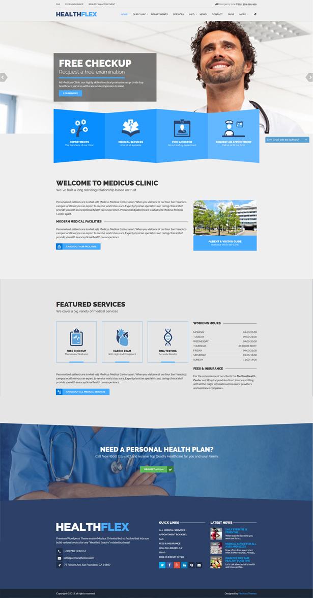 page 1 - HEALTHFLEX - Doctor Medical Clinic & Health WordPress Theme