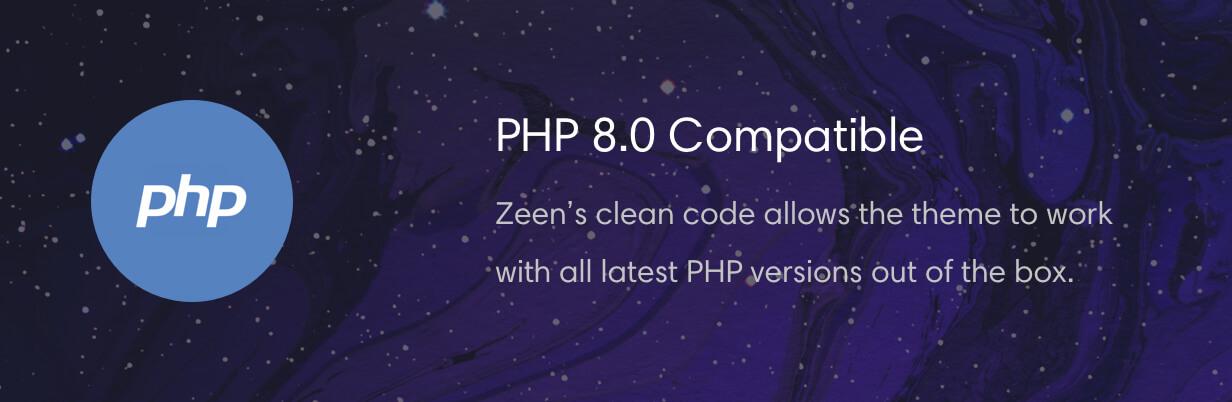 php8 compatible theme - Zeen | Next Generation Magazine WordPress Theme