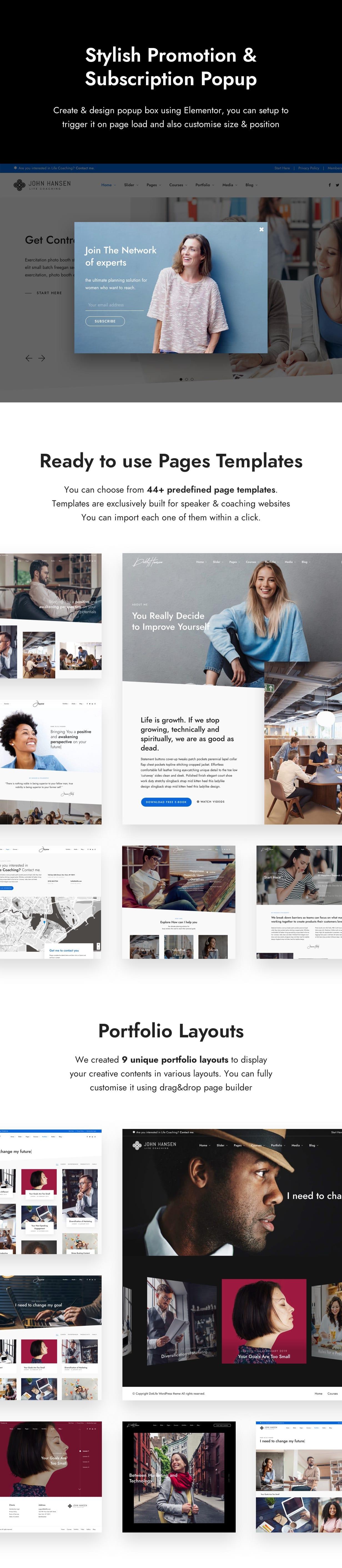 popup - DotLife | Coach Online Courses WordPress