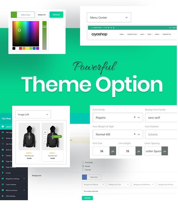 powerful theme option - CiyaShop - Responsive Multi-Purpose WooCommerce WordPress Theme