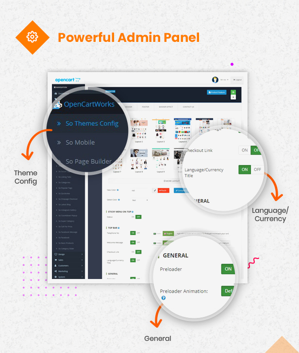 powerful admin panel - eMarket - Multi-purpose MarketPlace OpenCart 3 Theme (30+ Homepages & Mobile Layouts Included)