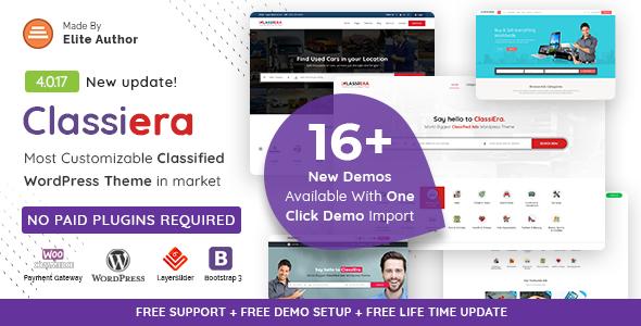 preivew.  large preview - Classiera – Classified Ads WordPress Theme