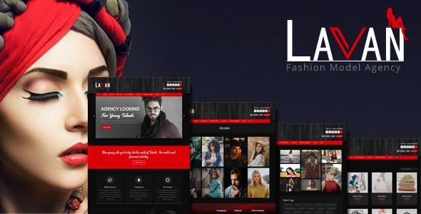 preview1 img.  large preview - Lavan - Fashion Model Agency WordPress CMS Theme