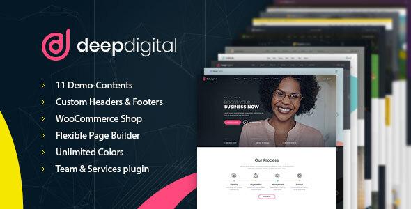 preview image 01.  large preview - DeepDigital – Web Design Agency WordPress Theme
