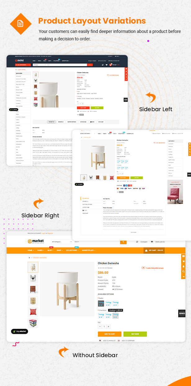 product page - eMarket - Multi-purpose MarketPlace OpenCart 3 Theme (30+ Homepages & Mobile Layouts Included)