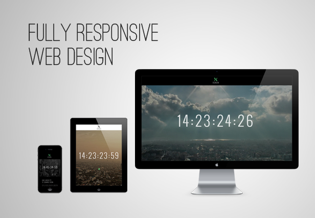 responsive - Xenon — Countdown & YouTube Video Background Page