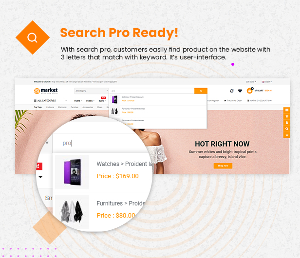 search pro - eMarket - Multi-purpose MarketPlace OpenCart 3 Theme (30+ Homepages & Mobile Layouts Included)