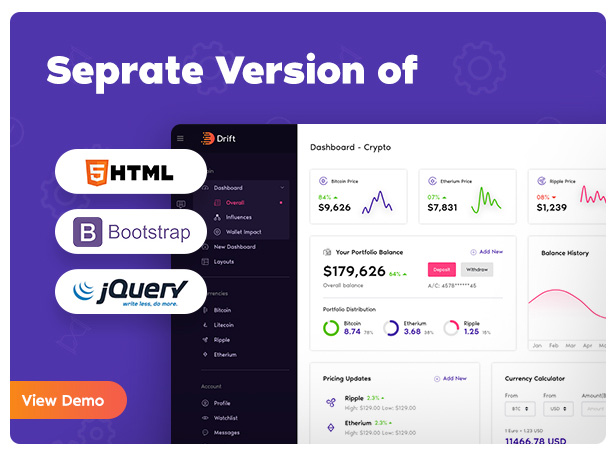 seprate version - Drift - Angular 10 Admin Template with BootStrap 4