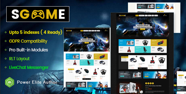 sgame - eMarket - Multi-purpose MarketPlace OpenCart 3 Theme (30+ Homepages & Mobile Layouts Included)