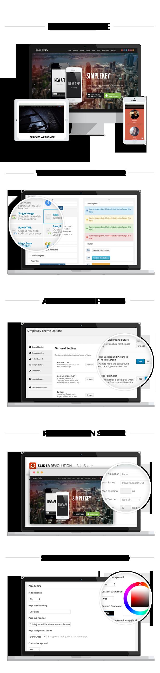 simplekey features - SimpleKey - One Page Portfolio WordPress Theme