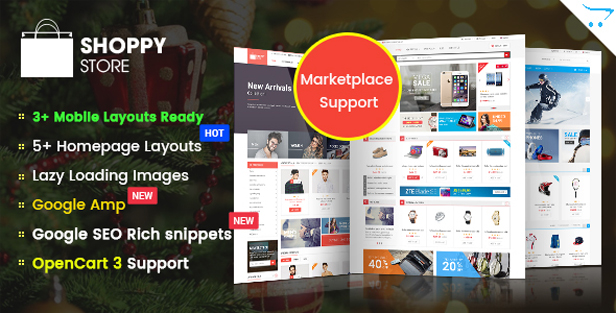 so shoppystore - eMarket - Multi-purpose MarketPlace OpenCart 3 Theme (30+ Homepages & Mobile Layouts Included)