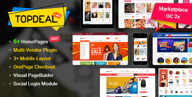 so topdeal - eMarket - Multi-purpose MarketPlace OpenCart 3 Theme (30+ Homepages & Mobile Layouts Included)