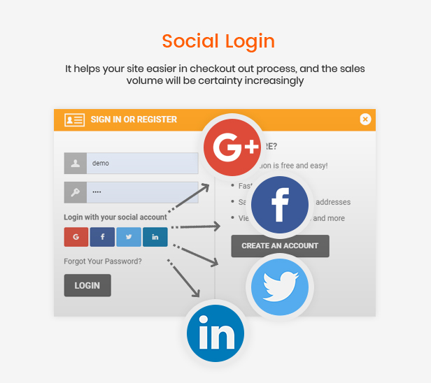 social login - eMarket - Multi-purpose MarketPlace OpenCart 3 Theme (30+ Homepages & Mobile Layouts Included)