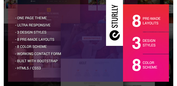 sturlly one page theme - H-Code Multipurpose OnePage & Multi Page Template