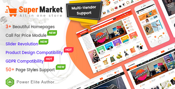 supermarket - eMarket - Multi-purpose MarketPlace OpenCart 3 Theme (30+ Homepages & Mobile Layouts Included)