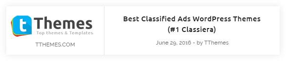 tthemes review - Classiera – Classified Ads WordPress Theme