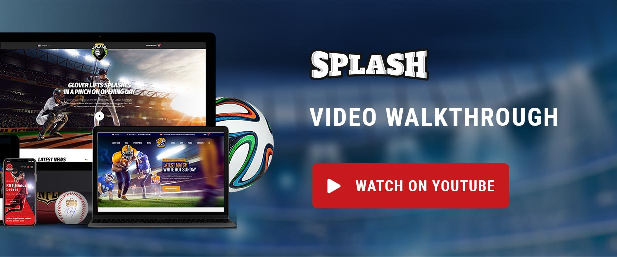 video - Splash - Sport Club WordPress Theme for Basketball, Football, Hockey