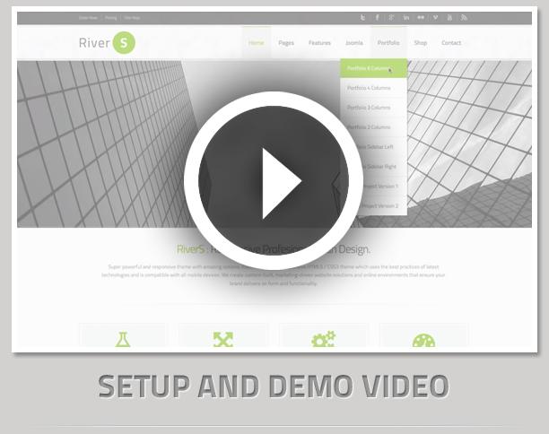 video - RiverS Responsive Multi-Purpose Joomla Template