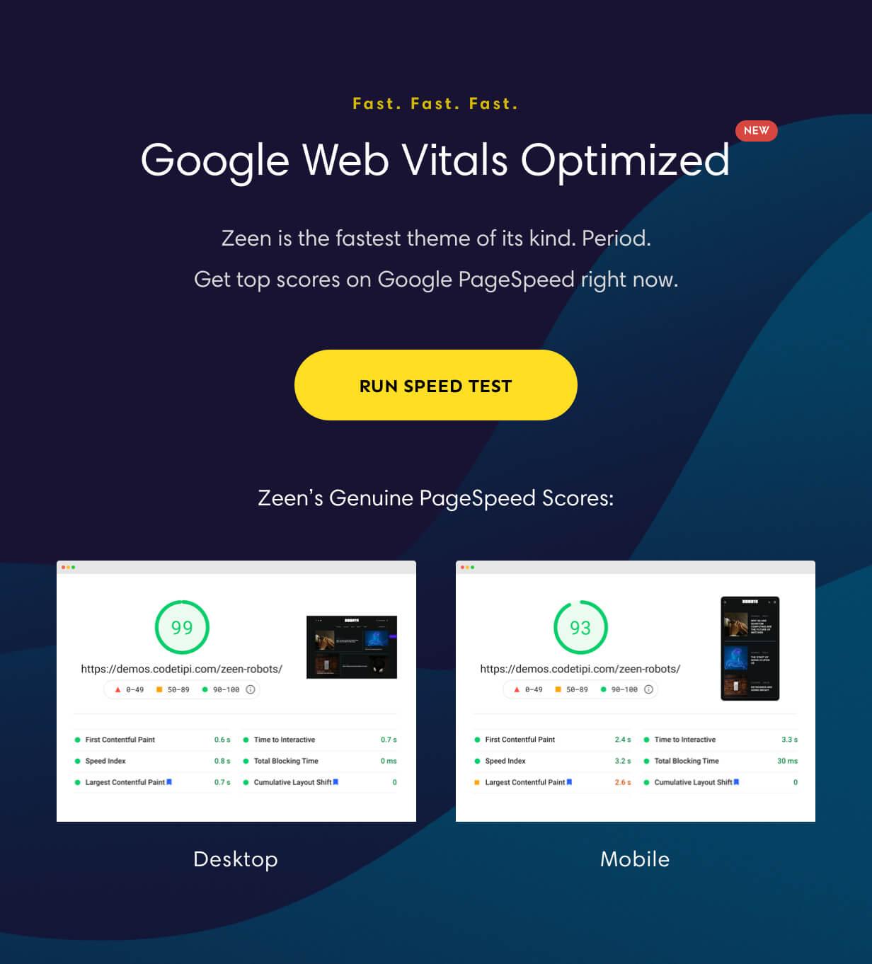 web vitals optimized - Zeen | Next Generation Magazine WordPress Theme
