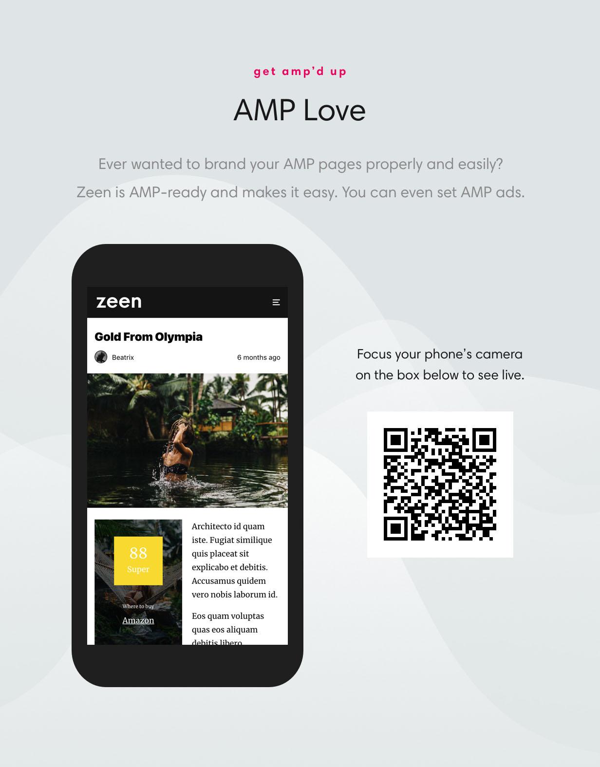 wordpress theme amp - Zeen | Next Generation Magazine WordPress Theme