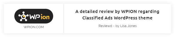 wpion review - Classiera – Classified Ads WordPress Theme