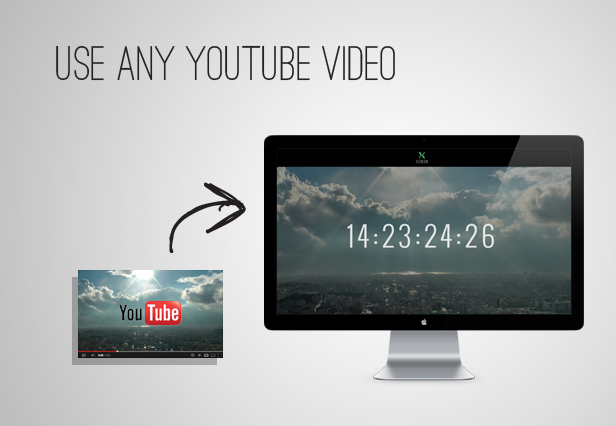 youtube - Xenon — Countdown & YouTube Video Background Page
