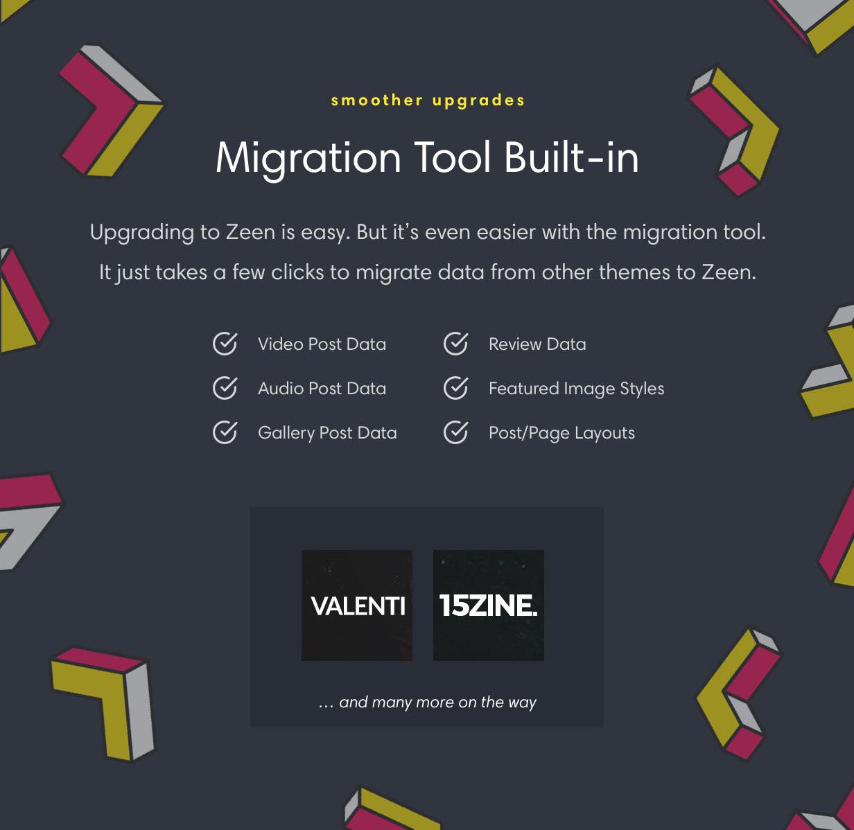zeen migration - Zeen | Next Generation Magazine WordPress Theme