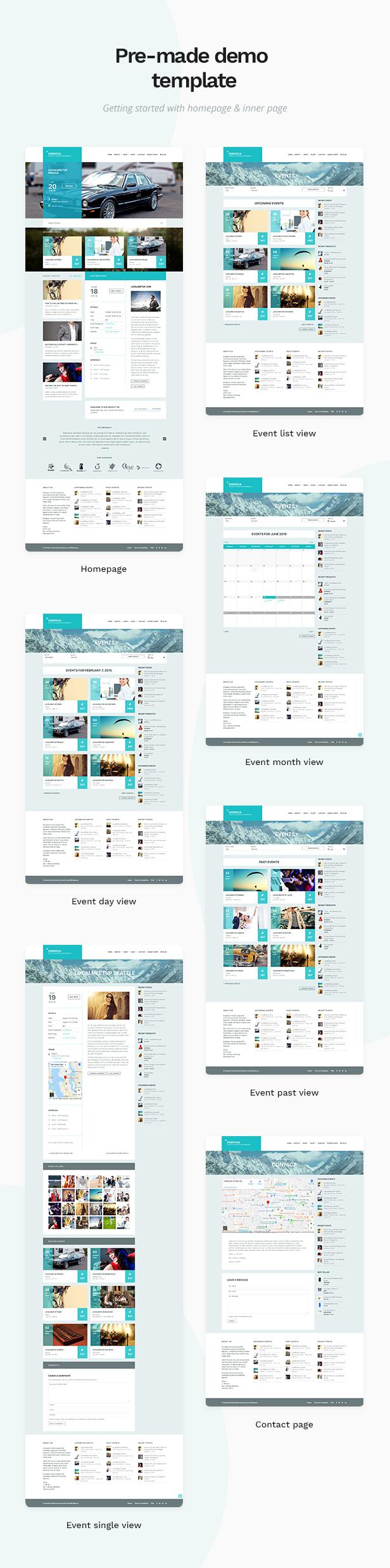 01 eventica page - Eventica - Event Calendar & Ecommerce WordPress Theme
