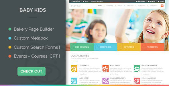 01 theme preview.  large preview - Baby Kids - Education Primary School Children