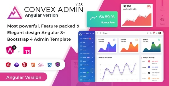 01.  large preview - Convex - Angular Bootstrap Admin Dashboard Template