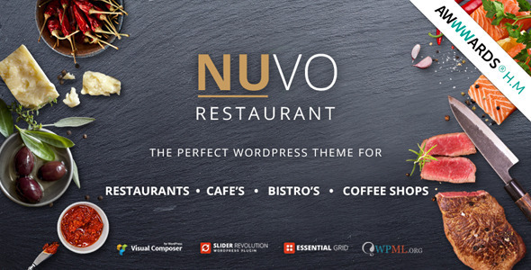 01 NUVOpreview.  large preview - NUVO - Cafe & Restaurant WordPress Theme
