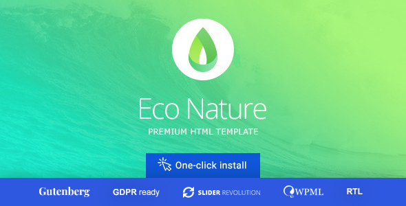 01 econature preview.  large preview - Eco Nature - Environment & Ecology WordPress Theme