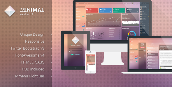 01 preview1.  large preview - Minimal - Responsive Admin Template