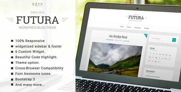 01 screenshot.  large preview - Futura - Responsive Minimal Blog Theme