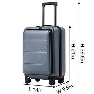 02159c92 01e0 4fea a4c9 c5f9f66663d4. CR0,0,300,300 PT0 SX300   - COOLIFE Luggage Suitcase Piece Set Carry On ABS+PC Spinner Trolley with pocket Compartmnet Weekend Bag (Sakura pink, 20in(carry on))