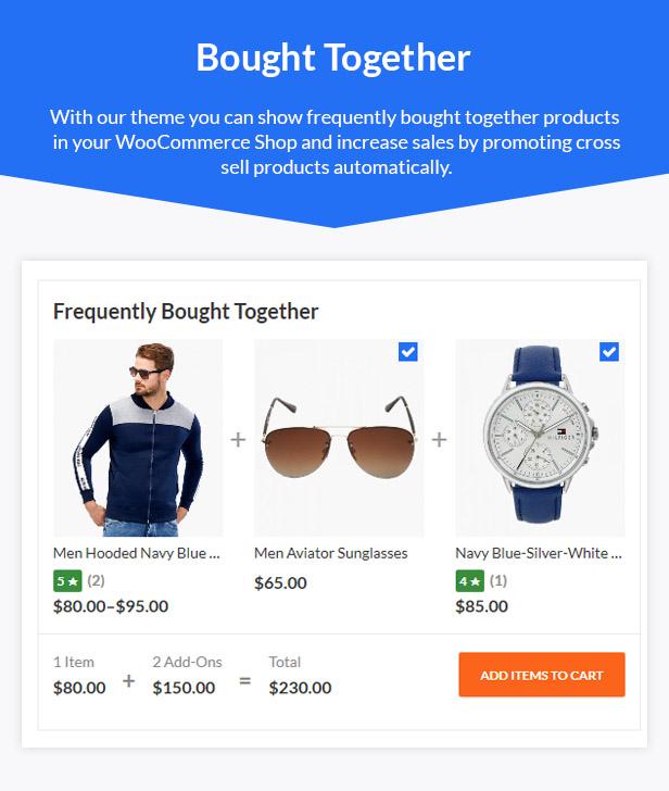 10 bought together - Kapee - Modern Multipurpose WooCommerce Theme