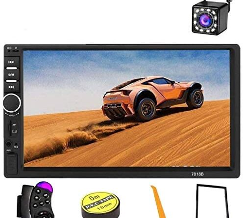 1625183796 51A5KquluBL. AC  500x445 - Car Stereo 2 Din,7 inch Touch Screen MP5/MP4/MP3 Multimedia Player,Bluetooth Audio,Car Stereo Receivers,FM Radio,USB/SD/AUX Input,Mirror Link,Support Steering Wheel Remote Control,Rear View Camera