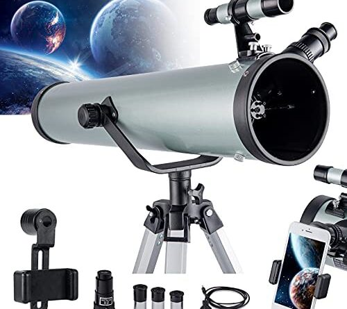 1625313929 51I3czzlj S. AC  500x445 - Astronomical Telescope for Kids and Astronomy Beginners, 700mm/76mm Starter Scope Good Partner to View Landscape and Planet, with Tripod, Wire Shutter, Phone Adapter