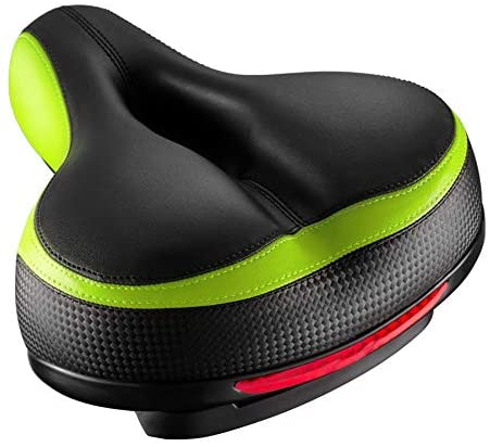1626267393 41dKXnPL89L. AC  - Roguoo Bike Seat, Most Comfortable Bicycle Seat Dual Shock Absorbing Memory Foam Waterproof Bicycle Saddle Bike Seat Replacement with Refective Tape