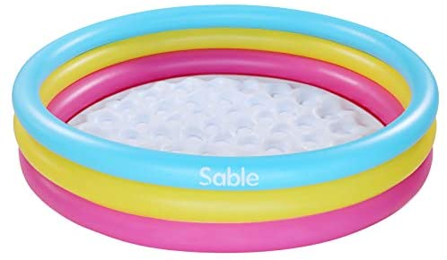 1626440515 413TmEdq76L. AC  - Sable Kiddie Pool, Inflatable Baby Pool 58'' x 13'', Kids Swimming Pools for Babies, Toddlers, Outdoor, Indoor, Garden