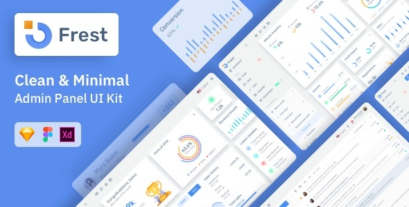 1626709871 547 01.  large preview - Frest – Admin Dashboard UI Kit Sketch Template