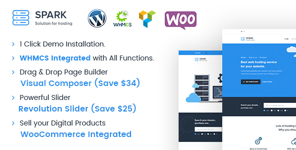 1626753236 162 preview.  large preview - Spark - Responsive WHMCS Hosting WordPress Theme
