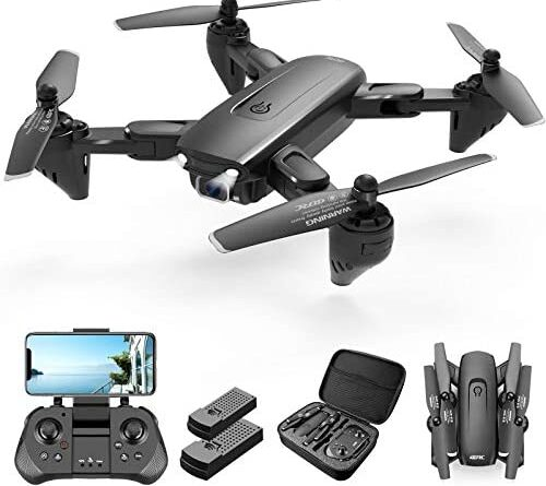 1627090065 41N7B0wHNrL. AC  500x445 - 4DRC Drone with 1080P HD Camera, 2 Batteries and Carrying Case, FPV Live Video Camera,RC Quadcopter for Adults kids,with Auto Hover,3D Flip,Headless Mode,One Key Start,Waypoints Functions