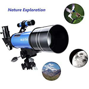 26920e2c 7476 4a2d b1a2 87930e483365. CR51,0,1702,1702 PT0 SX300   - MaxUSee 70mm Refractor Telescope with Tripod & Finder Scope for Kids & Astronomy Beginners, Portable Telescope with 4 Magnification eyepieces & Phone Adapter