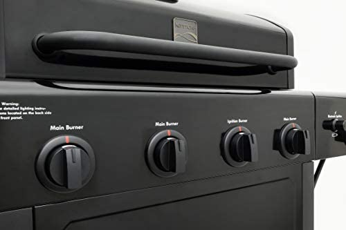317pxAtvx3L. AC  - Kenmore PG-40406SOL-1-AM 4 Open Cart Grill with Side Burner, Black