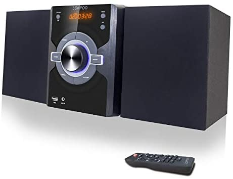31Aw58vfoSL. AC  - Compact Stereo Shelf System 30W (2x15W) Bluetooth CD Player Home Music System, Digital FM Stereo with Speakers, Headphone Jack, Aux-in&USB, Remote Control