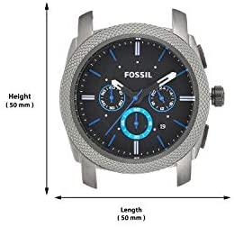 31KKbi+JARL. AC  - Fossil Men's Machine Stainless Steel Quartz Chronograph Watch